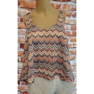 NWT Elan Small Pink Green Purple Tank Top